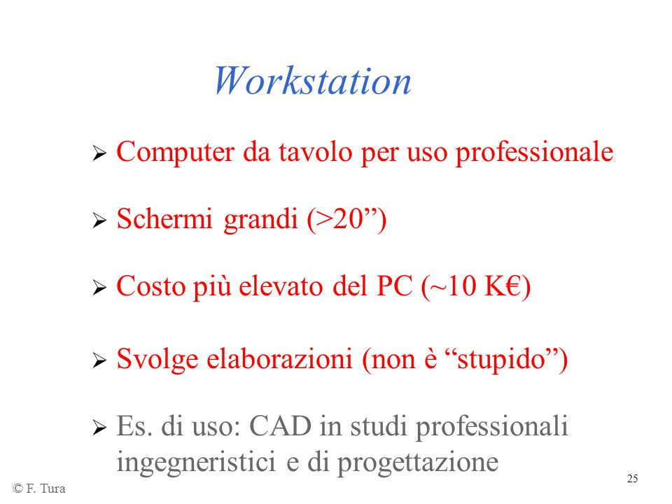 Workstation Computer da tavolo per uso professionale