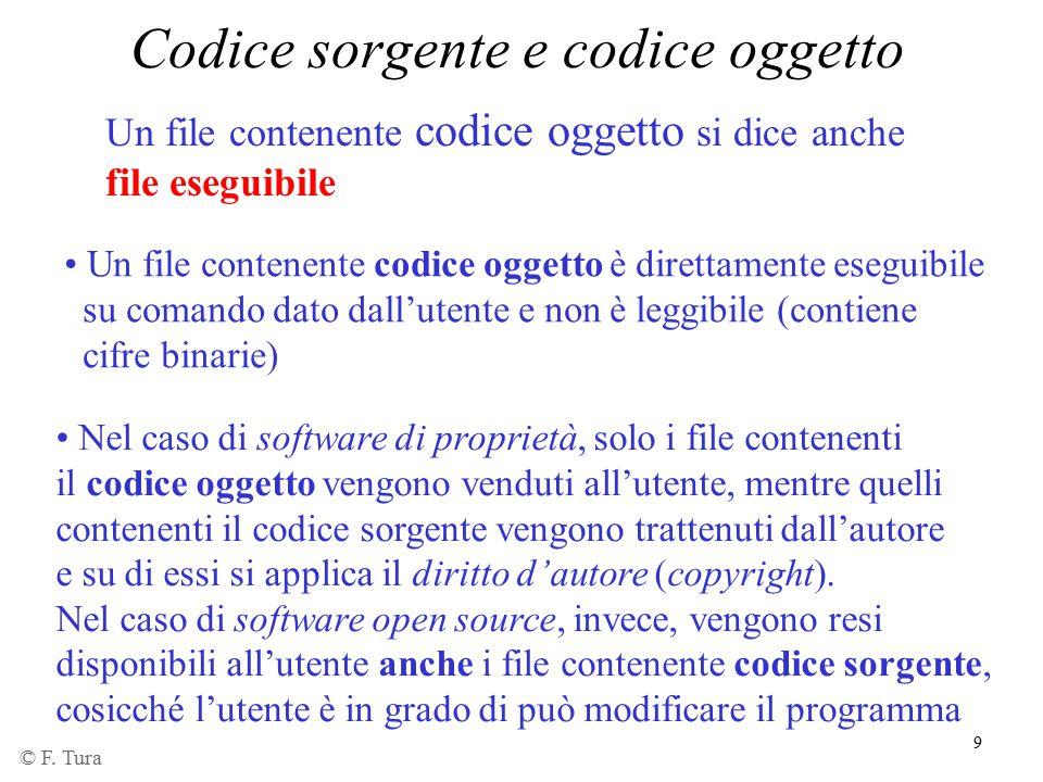 Codice sorgente e codice oggetto