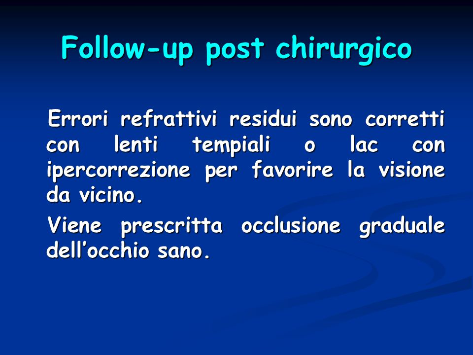 Follow-up post chirurgico