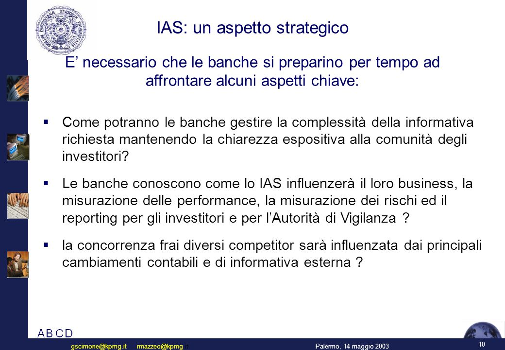 IAS: un aspetto strategico
