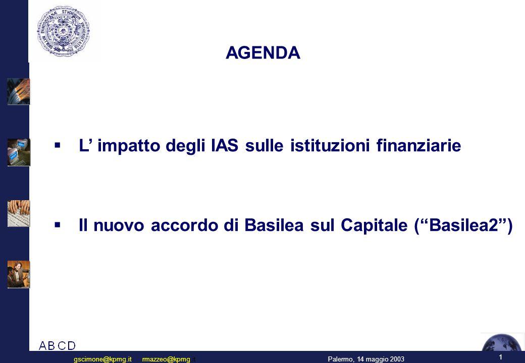L'impatto degli IAS sulle istituzioni finanziarie