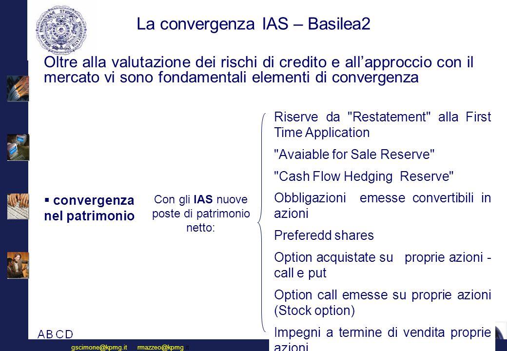 La convergenza IAS – Basilea2