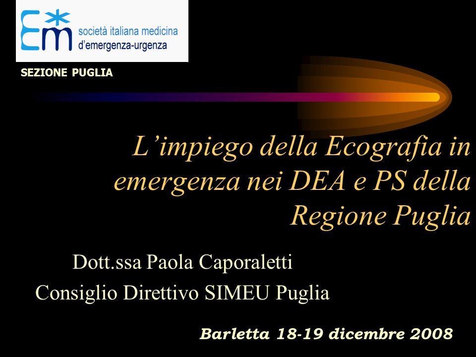 Dott.ssa Paola Caporaletti Consiglio Direttivo SIMEU Puglia