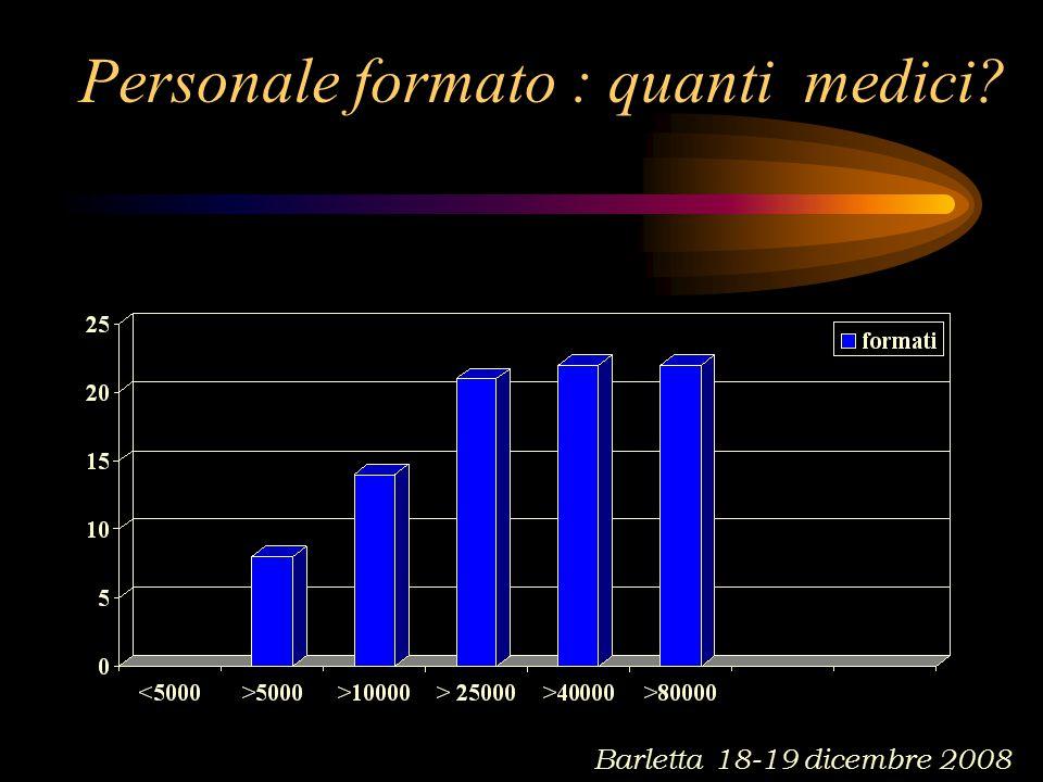 Personale formato : quanti medici