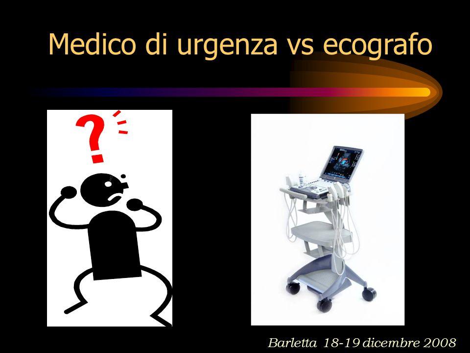Medico di urgenza vs ecografo