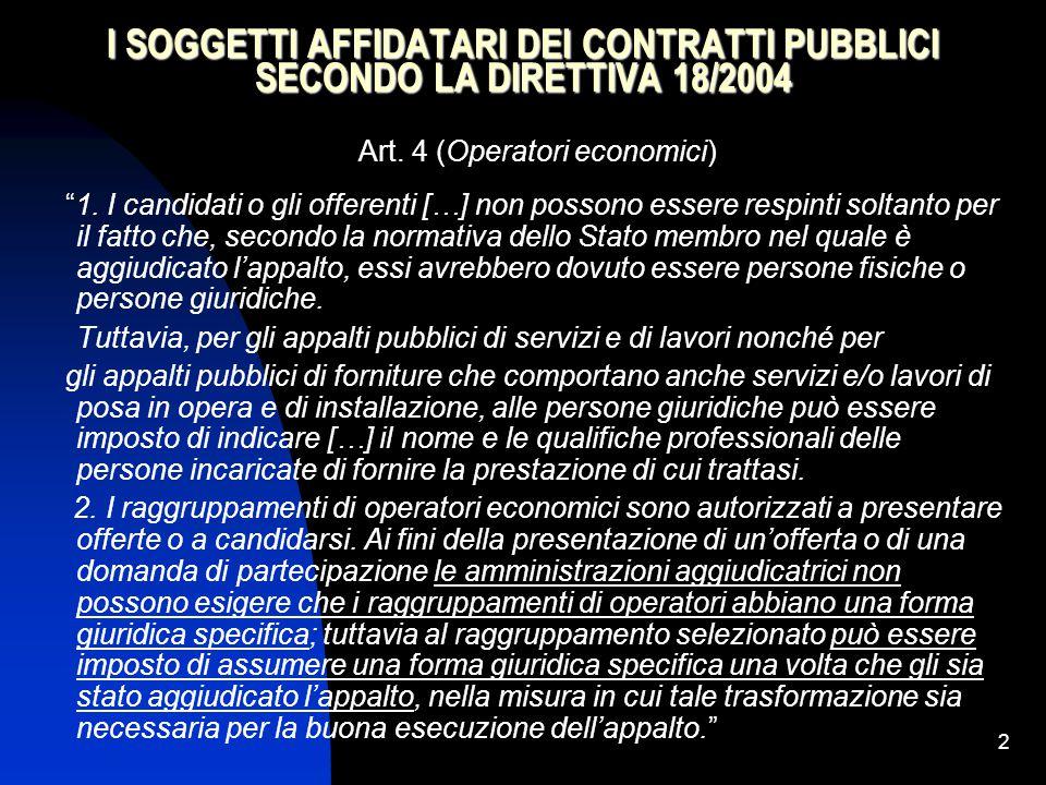 Art. 4 (Operatori economici)