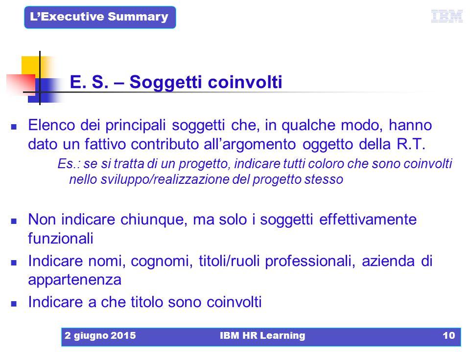 E. S. – Soggetti coinvolti