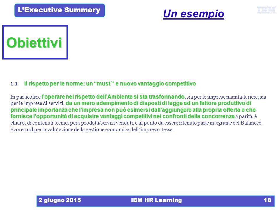 La Relazione Tecnica Un esempio. Obiettivi. 1.1 Il rispetto per le norme: un must e nuovo vantaggio competitivo.