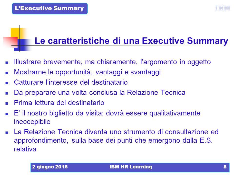 Le caratteristiche di una Executive Summary