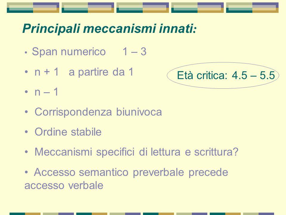 Principali meccanismi innati: