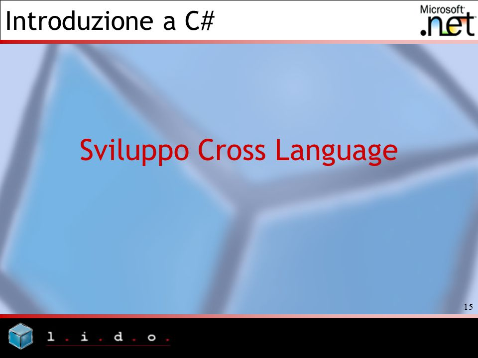 Sviluppo Cross Language