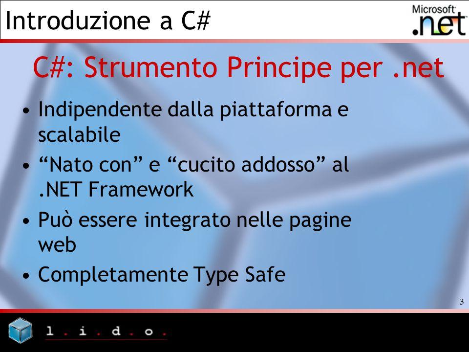 C#: Strumento Principe per .net