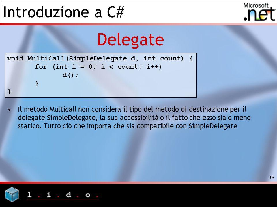 Delegate void MultiCall(SimpleDelegate d, int count) {