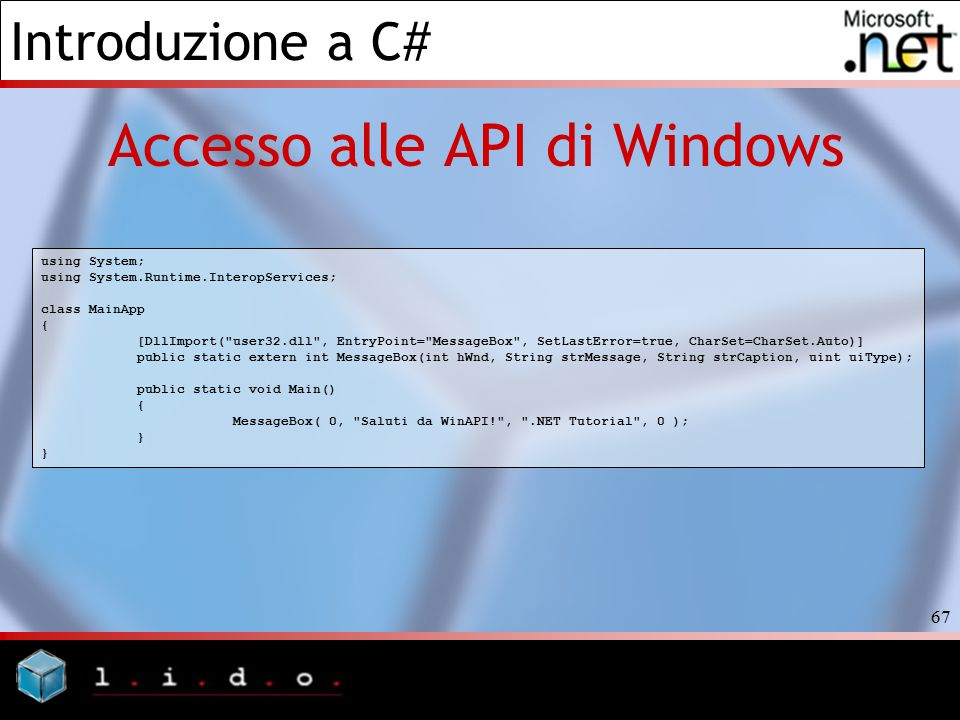 Accesso alle API di Windows