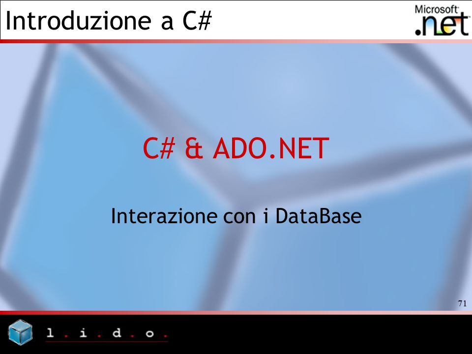 Interazione con i DataBase