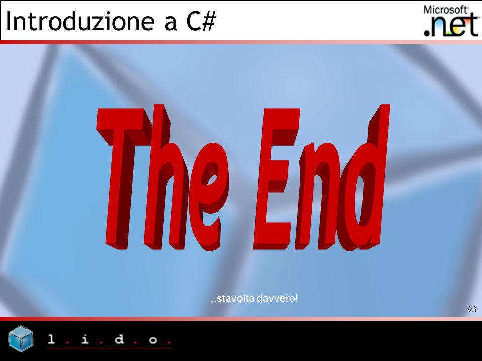 The End ..stavolta davvero!