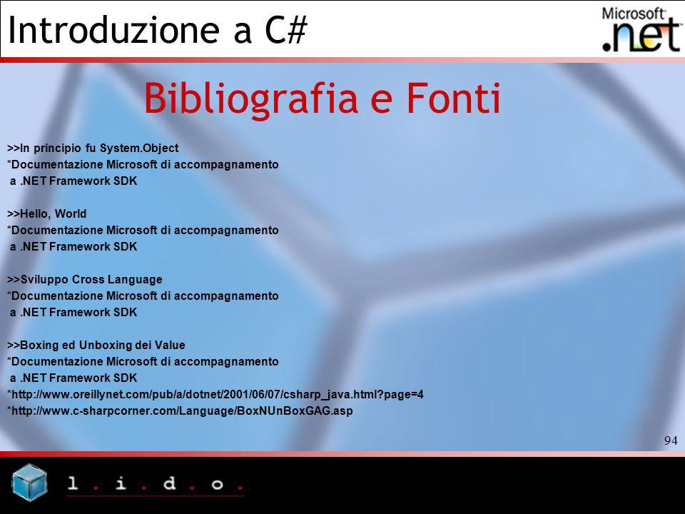 Bibliografia e Fonti >>In principio fu System.Object