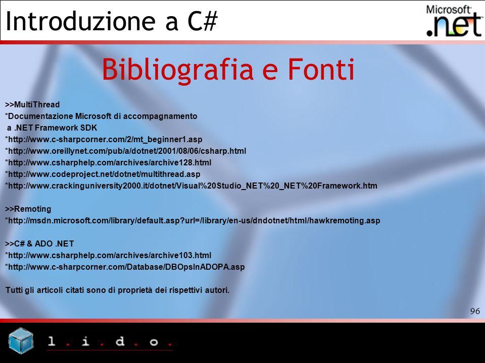 Bibliografia e Fonti >>MultiThread