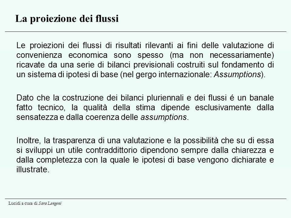 La proiezione dei flussi