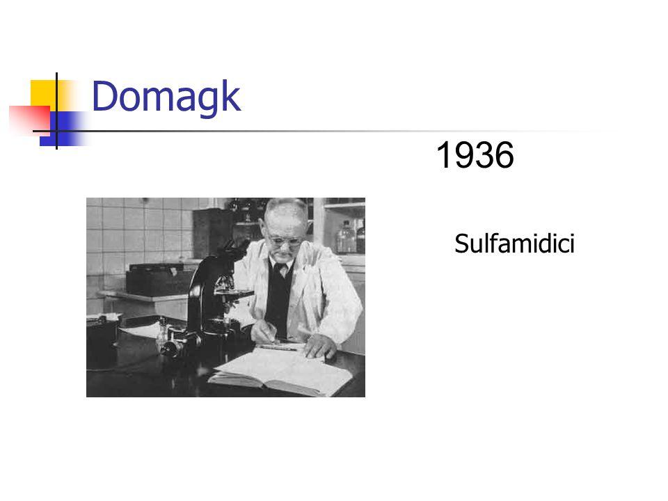 Domagk 1936 Sulfamidici