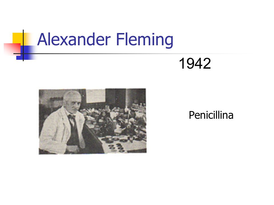 Alexander Fleming 1942 Penicillina