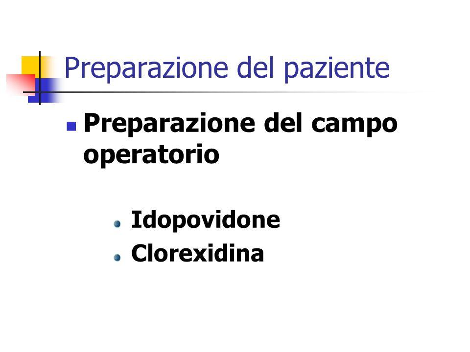 Preparazione del paziente