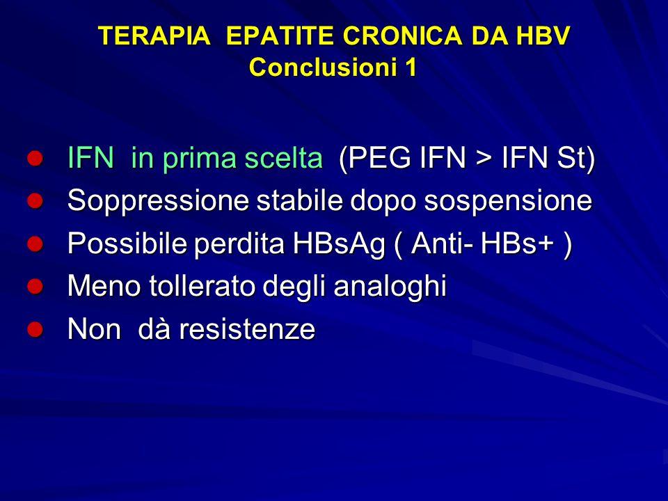 TERAPIA EPATITE CRONICA DA HBV Conclusioni 1