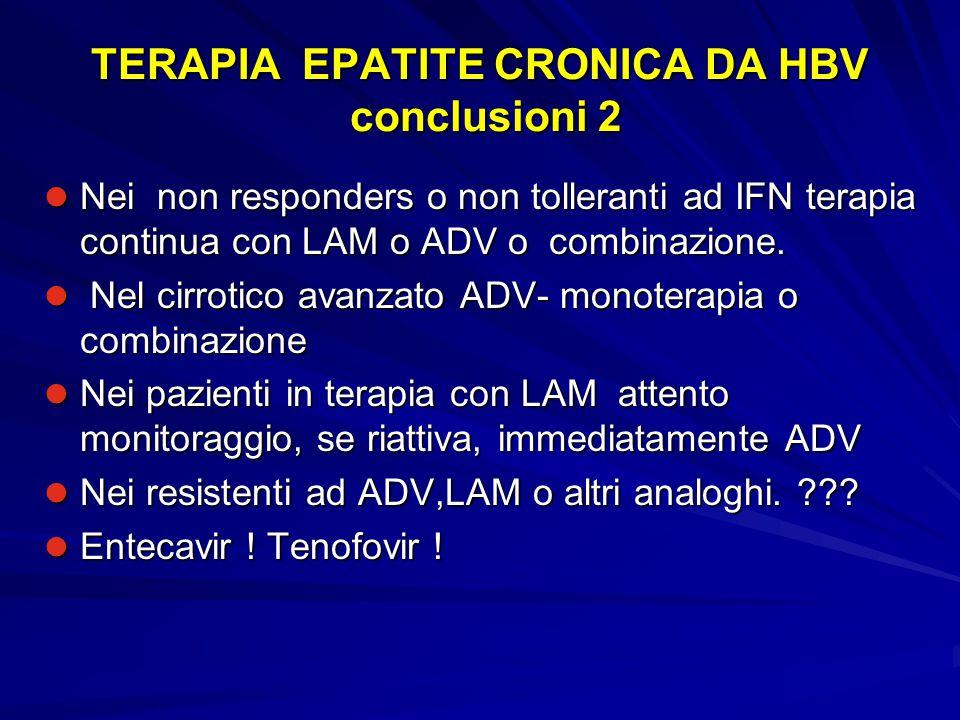 TERAPIA EPATITE CRONICA DA HBV conclusioni 2