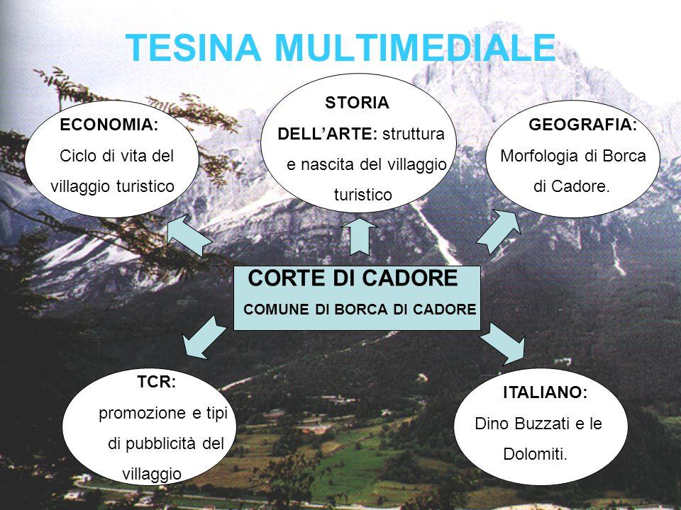 TESINA MULTIMEDIALE CORTE DI CADORE STORIA DELL'ARTE: struttura