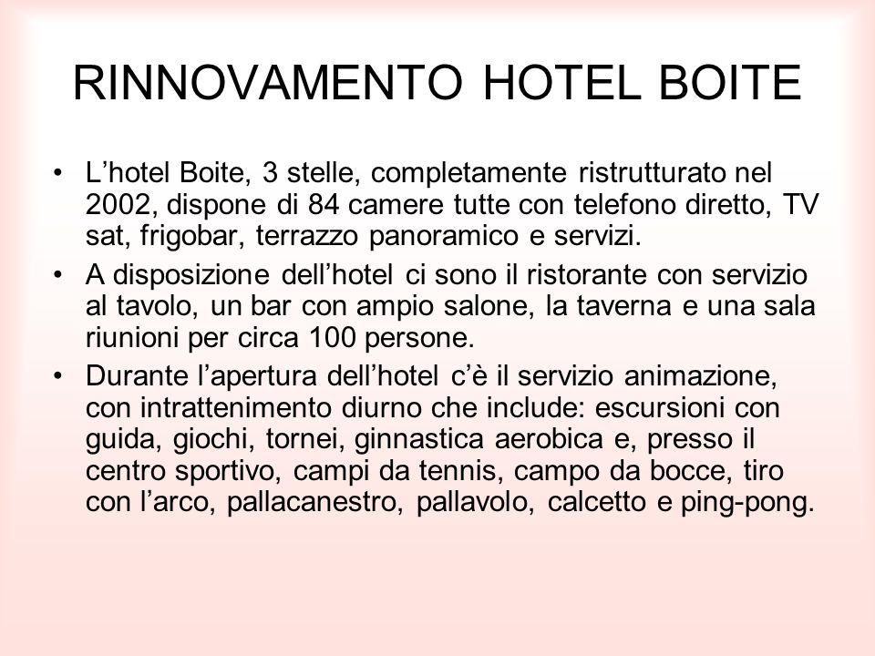 RINNOVAMENTO HOTEL BOITE