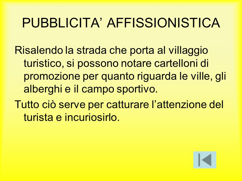 PUBBLICITA' AFFISSIONISTICA