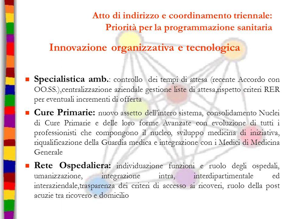 Innovazione organizzativa e tecnologica