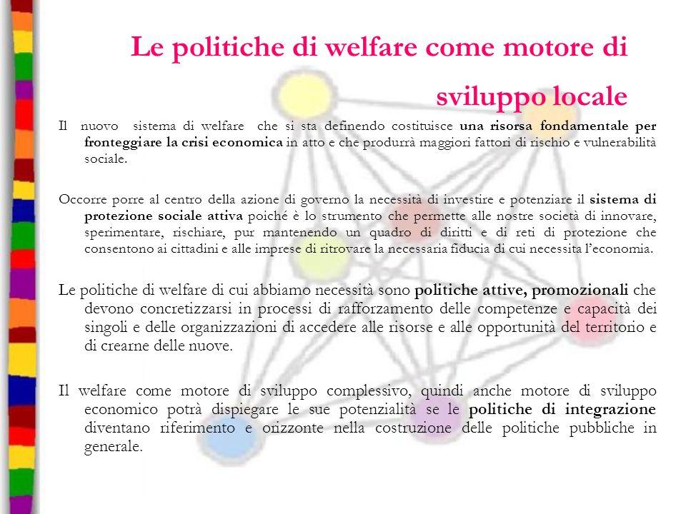 Le politiche di welfare come motore di sviluppo locale
