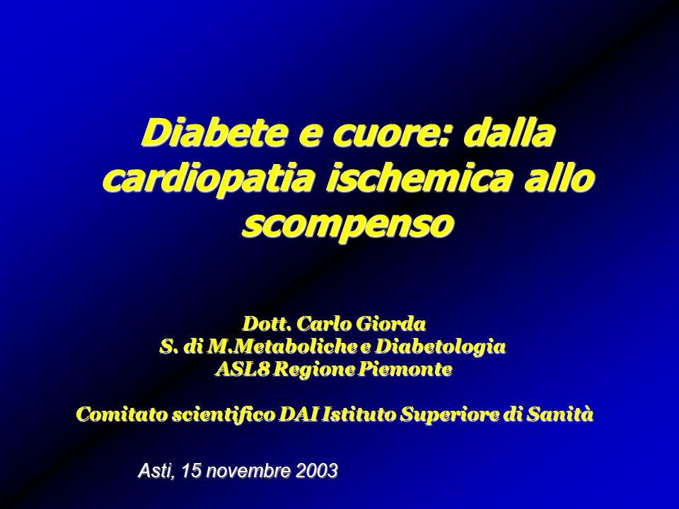 Diabete e cuore: dalla cardiopatia ischemica allo scompenso