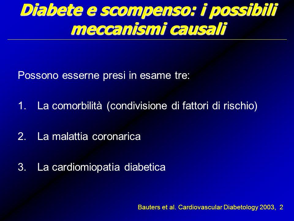 Diabete e scompenso: i possibili meccanismi causali