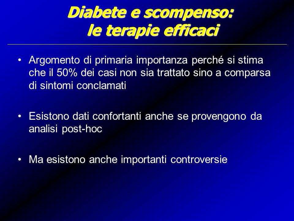 Diabete e scompenso: le terapie efficaci
