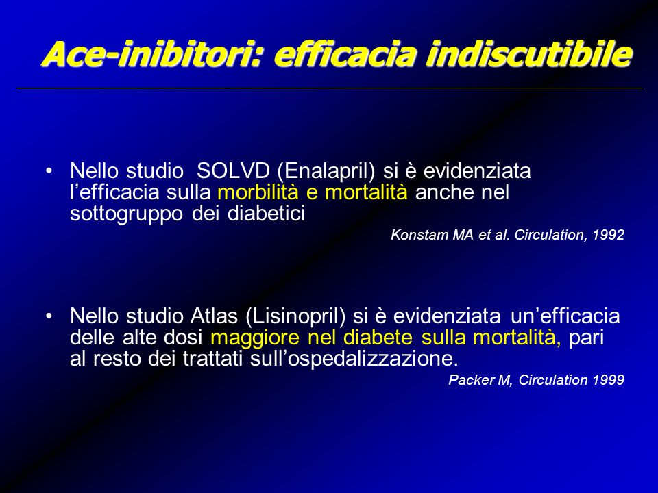 Ace-inibitori: efficacia indiscutibile