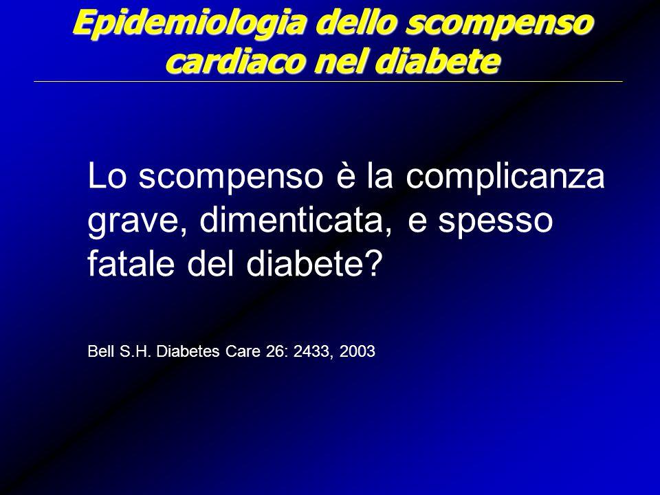 Epidemiologia dello scompenso cardiaco nel diabete