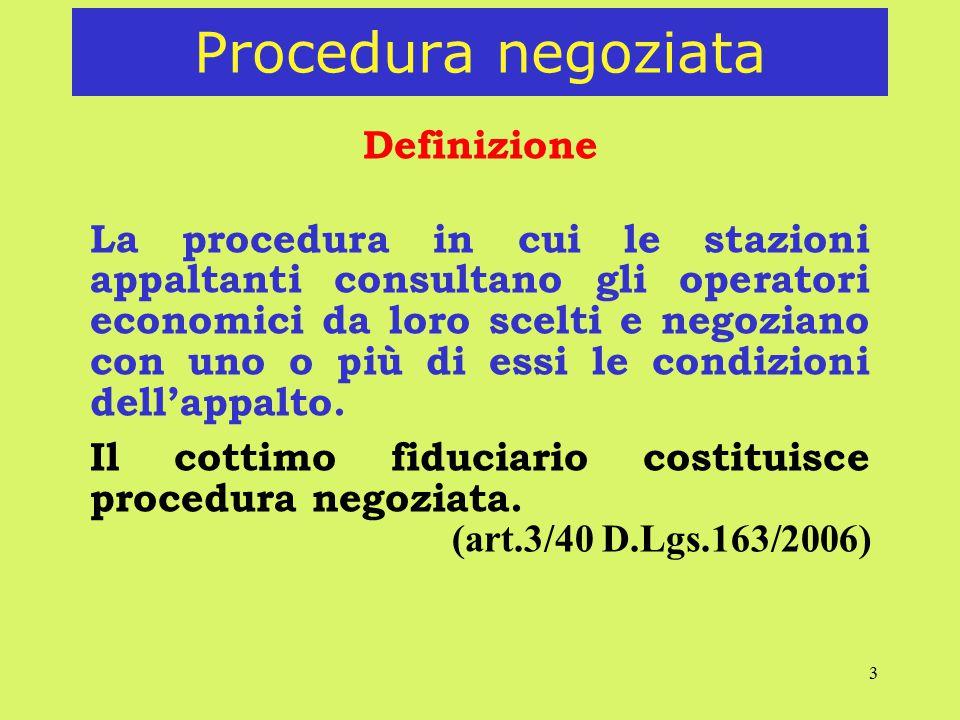 Procedura negoziata Definizione
