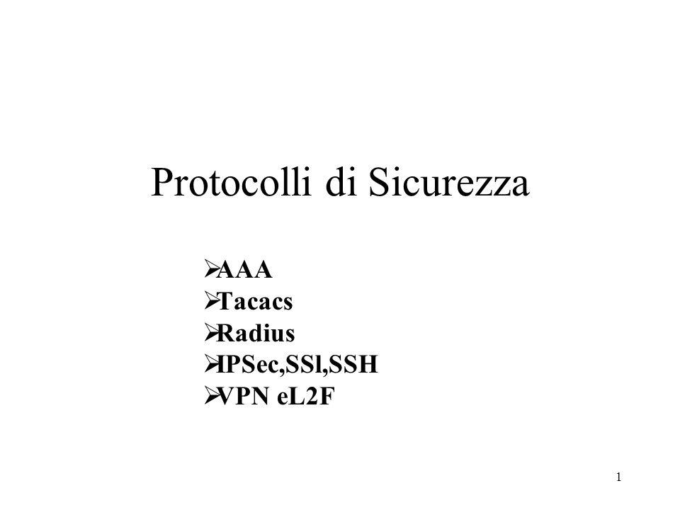 Protocolli di Sicurezza