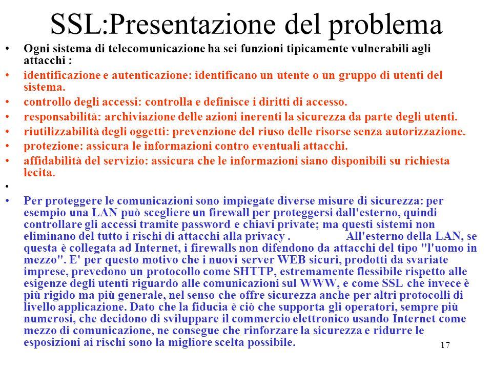 SSL:Presentazione del problema