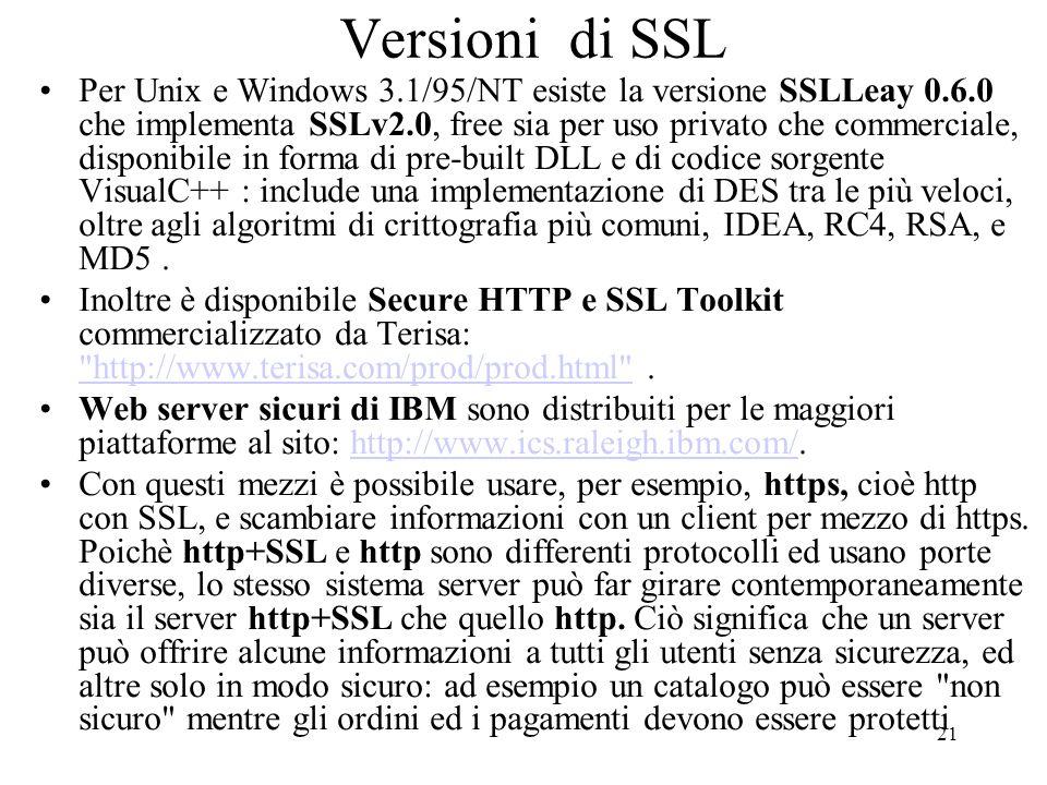 Versioni di SSL
