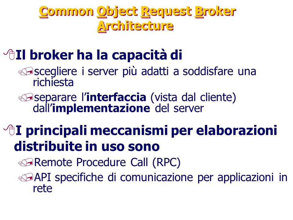 Common Object Request Broker Architecture
