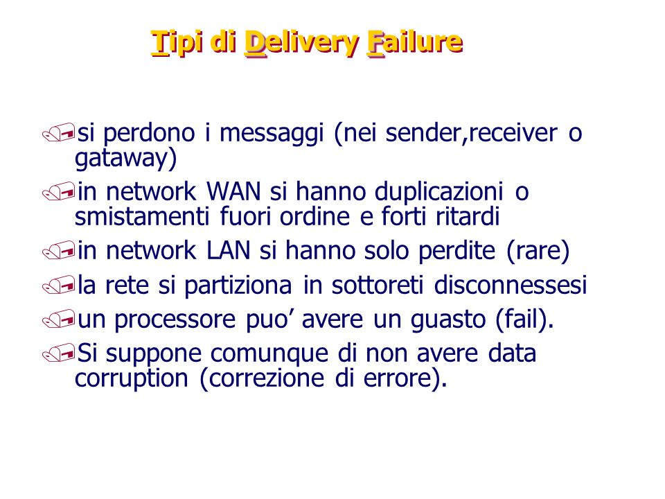 Tipi di Delivery Failure