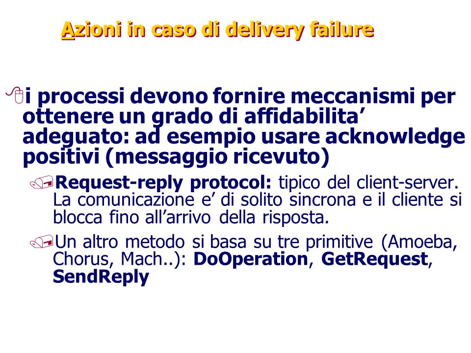 Azioni in caso di delivery failure