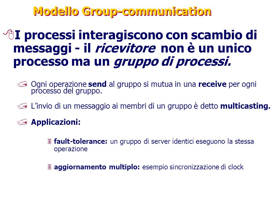 Modello Group-communication