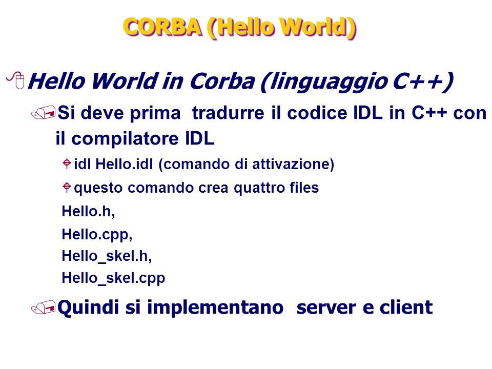 Hello World in Corba (linguaggio C++)