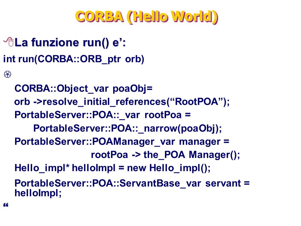 rootPoa -> the_POA Manager();