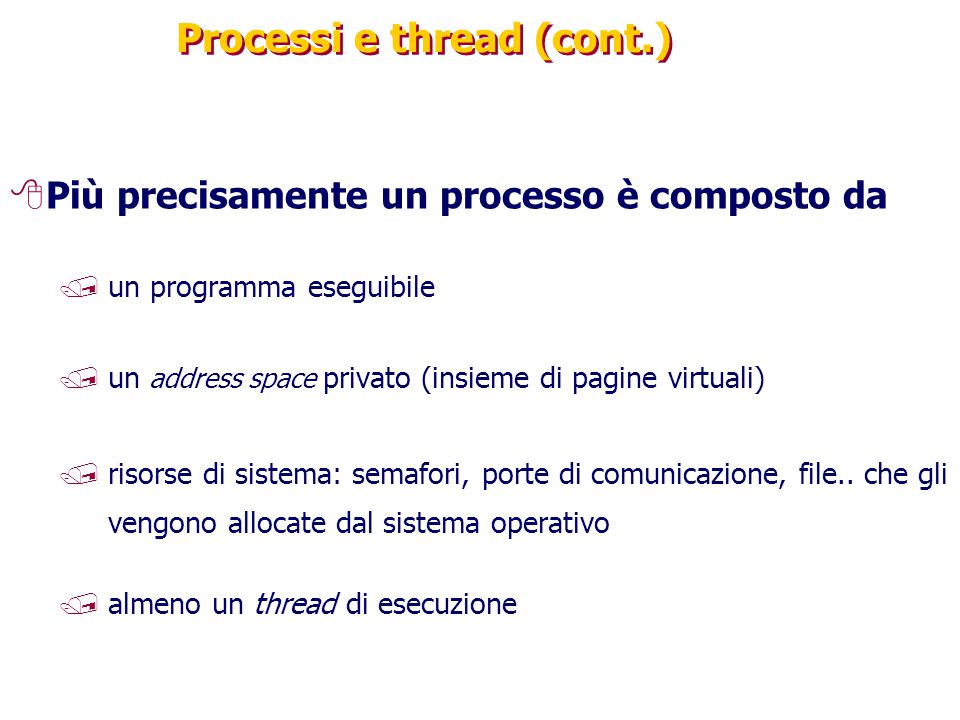 Processi e thread (cont.)