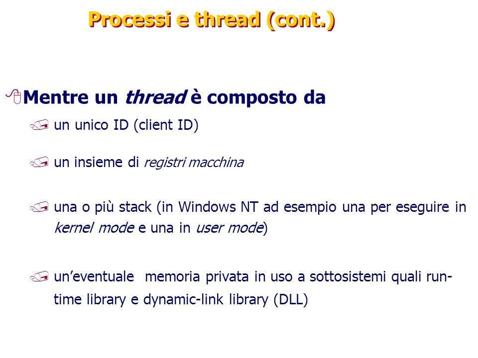 Processi e thread (cont.)